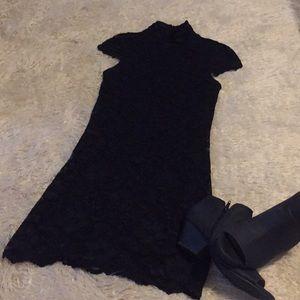 Twenty One black lace dress medium